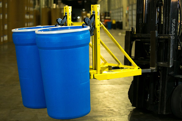 Fiesta Warehousing barrel forklift attachments
